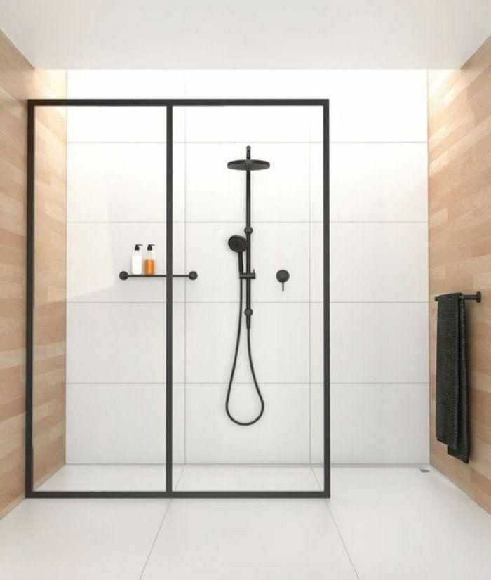 magnifique salle de bain en beige et blanc design chic