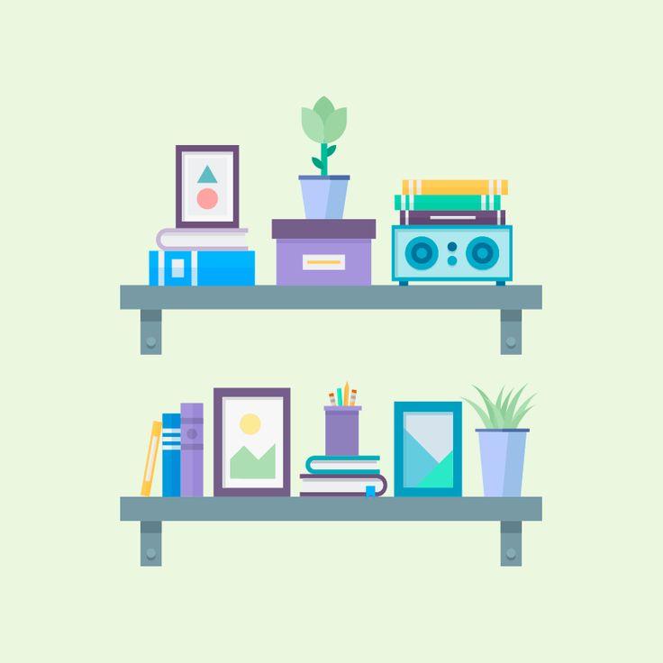 How to Create a Flat Design WallShelves Illustration in AdobeIllustrator Design Psdtuts