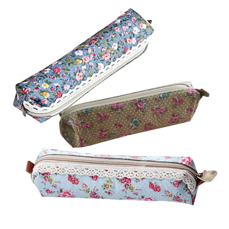 Estampado de flores de Encaje Bolsa de Cosméticos de Maquillaje Bolsa de viaje organizador compone bolsos cosméticos Bolsa de Regalo Envío Gratis