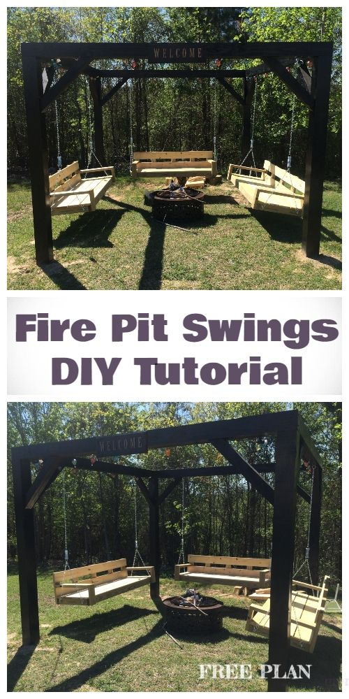 Diy Pergola Firepit Swings Tutorial Furniture