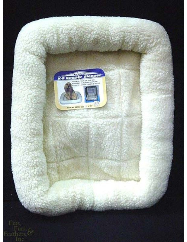 Four Paws K-9 Keeper Sleeper Crate Pad for Dogs less than 25 lbs. (Natural, 25 Inch L x 20 Inch W)