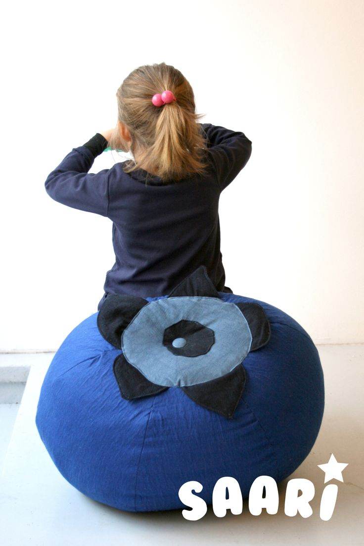 Saari_Blueberry. Kids furniture. Pouffe  Designed by Veronica Lassenius , handmade by Soffan