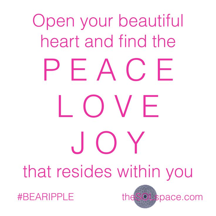 Open your beautiful heart and find the P E A C E, L O V E, J O Y that resides within you….  BE AWARE TO BE Download your FREE #BeARipple LOVE CONSCIOUSNESS frequency meditation now @ www.theSOLspace.com/meditation