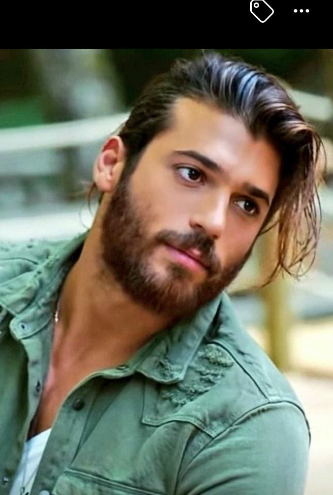Wow Hes to beautiful I love long hair on men  can yaman in 2019  Beard no