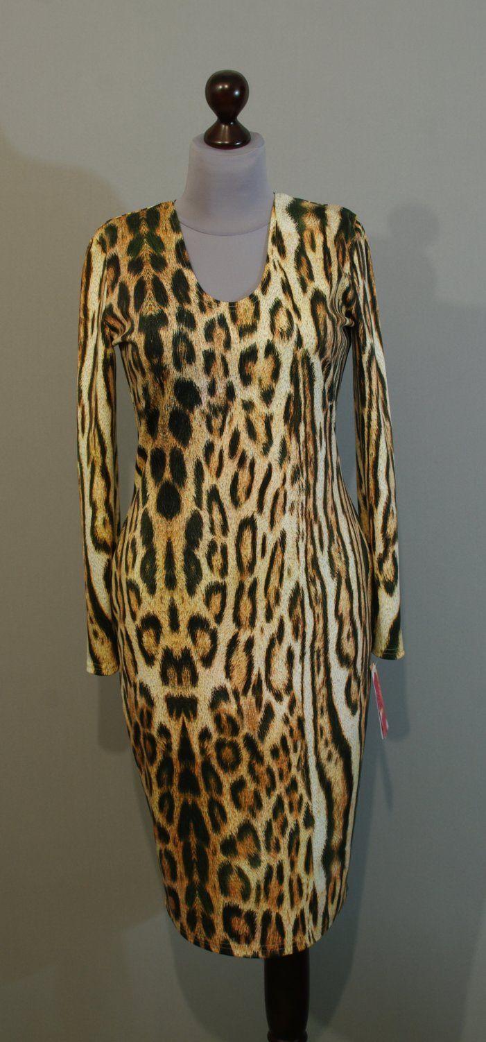 Теплое платье на зиму с крупным леопардовым принтом, Украина купить интернет (22)