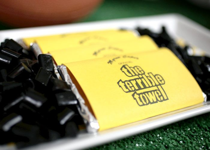 Love the Terrible Towel candy bars.