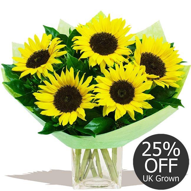 Flowers by Season Autumn Sunflowers  - Mellow Yellow