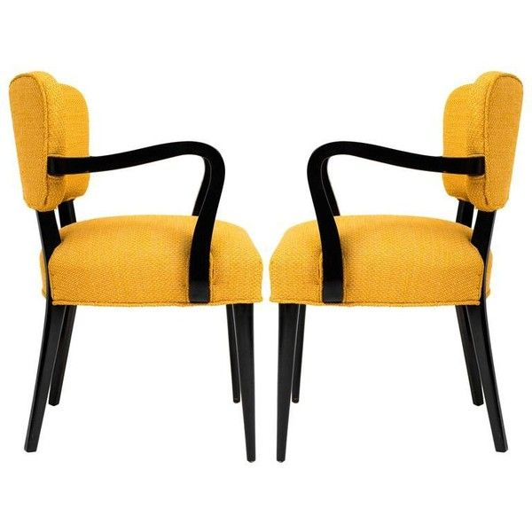 Preowned Pair Of 1960s Modern Armchairs Or Side Chairs In The Manner... (£2,800) ❤ liked on Polyvore featuring home, furniture, chairs, armchairs, brown, brown armchair, brown chair, estate furniture, secondhand furniture and second hand chairs