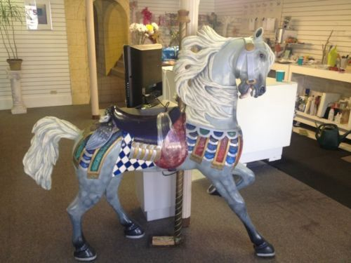Full Size Original Authentic Epcot Disney World Carousel Horse by Robert Fox | eBay