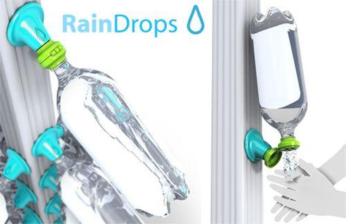 El colector de agua de lluvia Rain Drops de Evan Gant fue el proyecto ganador del oro en el concurso Design for Poverty.