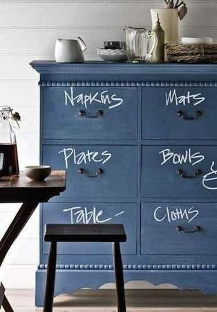 黒板ペイント収納家具  黒板塗料を使うだけで、普通の収納家具がお洒落に変身!  #DIY #日曜大工 #インテリア