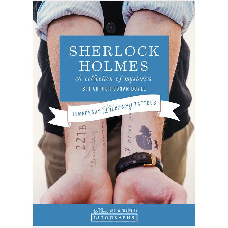 Temporary Tattoos - Sherlock Holmes