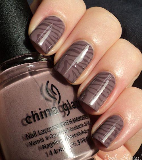 animal printZebras Stripes, Nails Art, Zebras Strips, Nails Design, China Glaze, Nails Polish, Animal Prints, Zebras Nails, Prints Nails