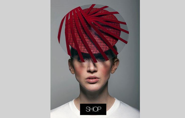 Red Perspex Percher hat
