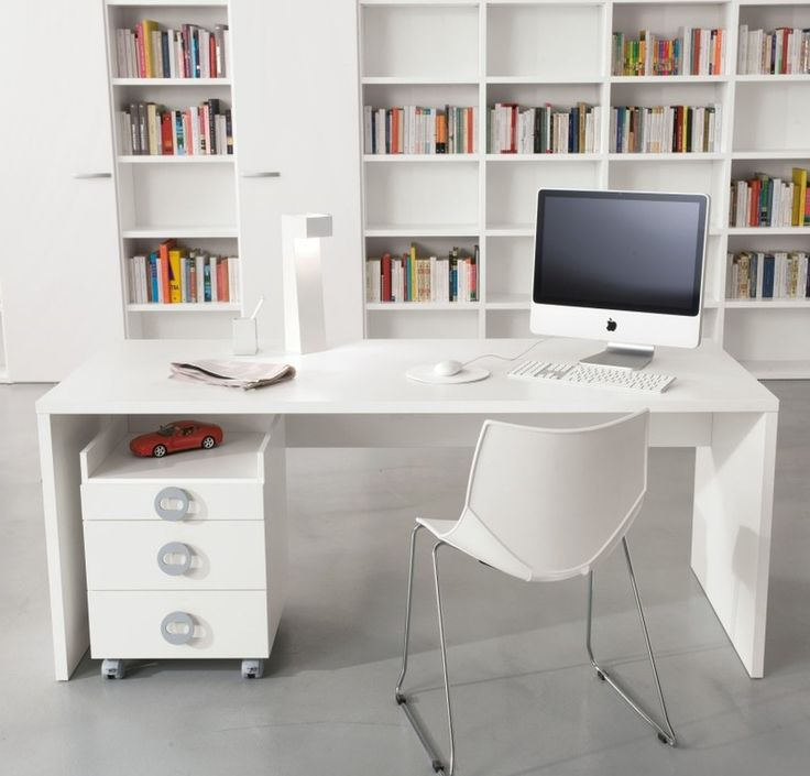 Perfect Modern White Desk Application For Home Office    Http://www.amazadesign