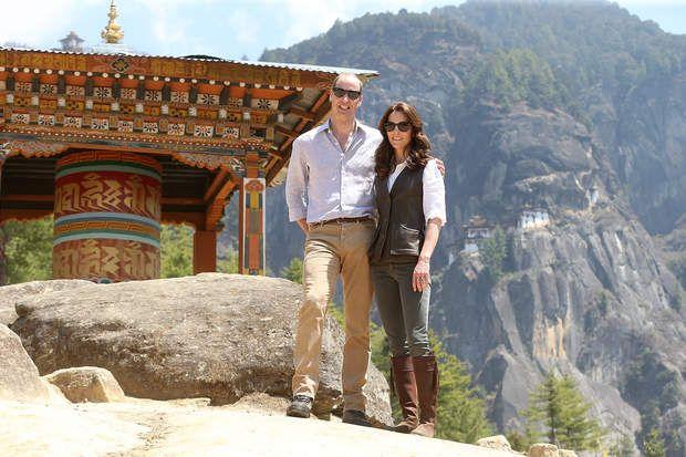 Kate Middleton et le prince William lors d'une visite au Bhoutan où ils étaient très proches