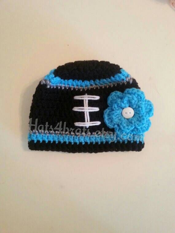 Baby Girl Carolina Panthers Hat Newborn Panthers Hat by Hats4Brats