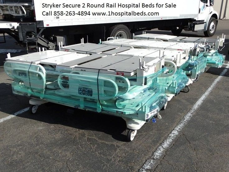 10 stryker secure 2 hospital beds with scale and bed exit package deal