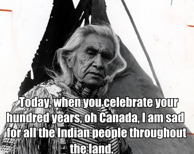 """This day in the history of Canada's birthday, Chief Dan George silenced a crowd of 32,000 with his """"Lament for Confederation"""" at the Empire Stadium."""