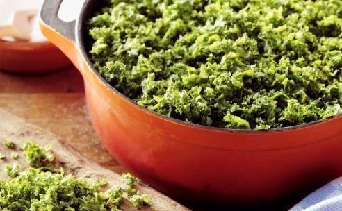 boerenkool met vegetarische reepjes en paddestoelen