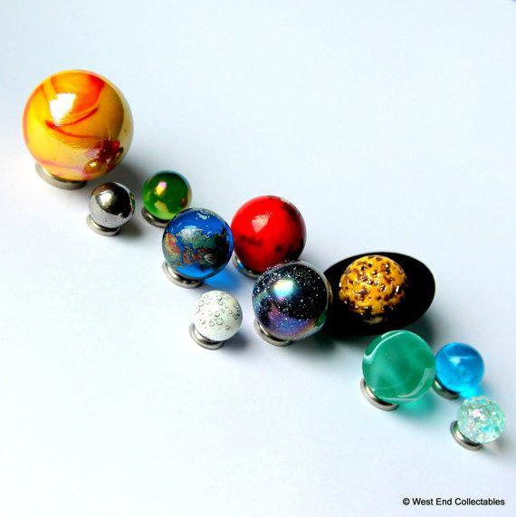 Système solaire planétaire Globe marbre Collection - Set de 11 planètes - astronomie