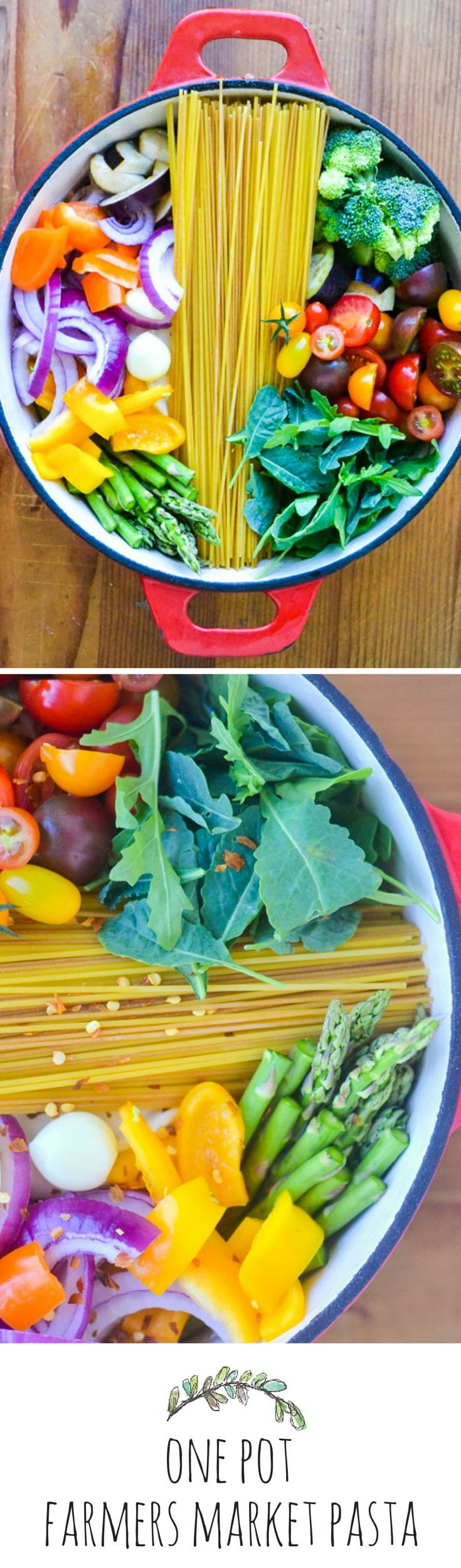 Everything cooks together in one pot for this recipe, no draining of the pasta is necessary #easy #recipes
