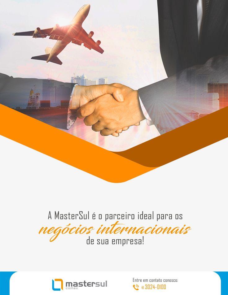 A MasterSul é o parceiro ideal para os negócios internacionais de sua empresa, seja ela já inserida no mercado internacional ou uma empresa que quer começar a importar ou exportar! Quer saber mais? Entre em contato conosco: (41) 3024-0100.