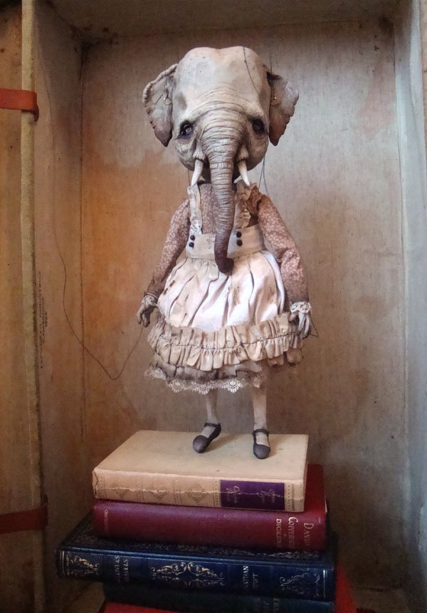 Mary, The Haunted Marionette. $1,000.00, via Etsy.