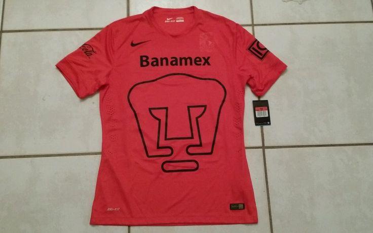 NWT Authentic NIKE Pumas Unam Mexico RED  Goalkeeper Soccer Jersey Men's Large  #Nike #PumasUnam