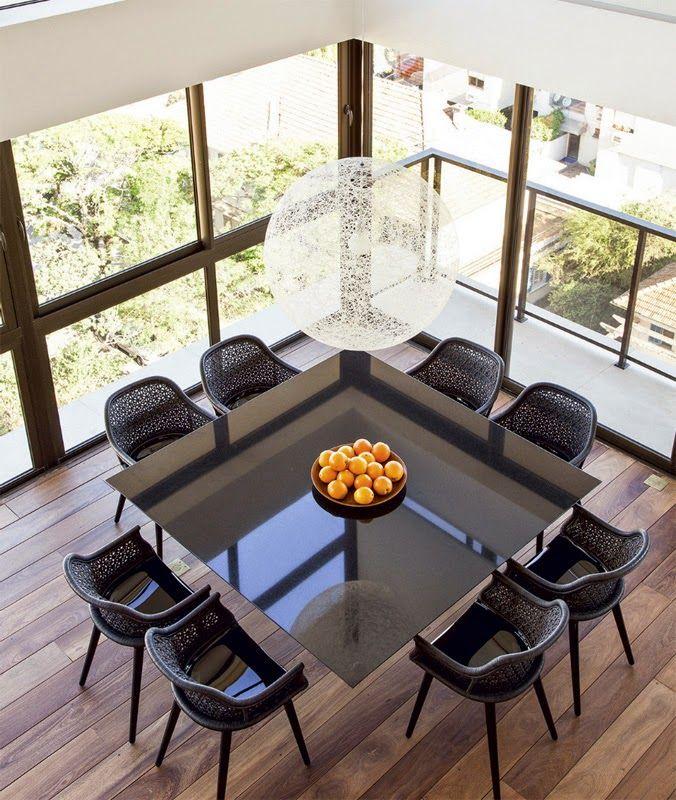 Construindo Minha Casa Clean: Salas de Jantar Decoradas com Mesas Pretas!!! Veja Dicas e Modelos!