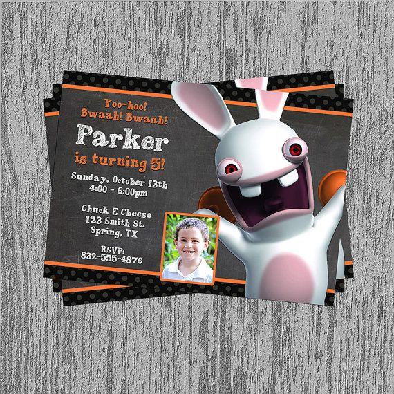 Rabbids Invasion Birthday Invitation by LastingMomentsDesign, $8.99