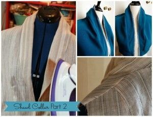 #Dakotasewalong: Visual step by step Shawl Collar. – House of Pinheiro