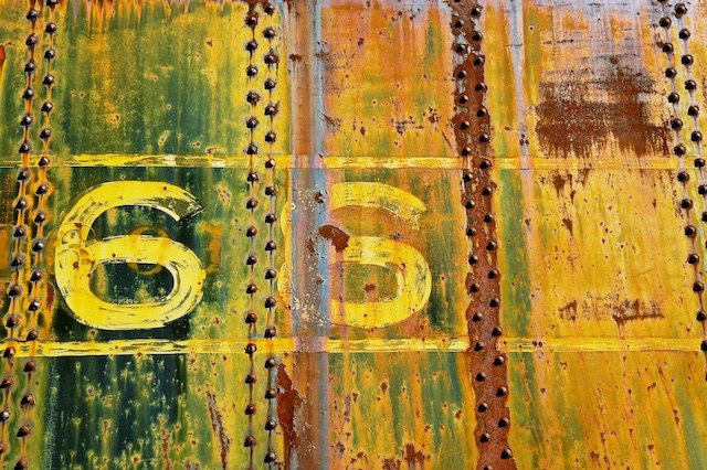 Urban Art, Rusty Train Decor, 66, Manly Art, Home Decor, Industrial Wall Art by BrandonAddisArt on Etsy