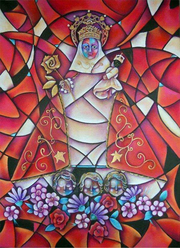 Virgen De Covadonga La Santina Virgen De Covadonga Arte Abstracto Abstracto Figurativo
