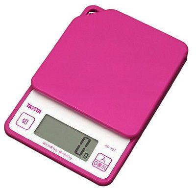 Japan TANITA Digital Kitchen Scales KD187 Pink Big LCD 1Kgs Cooking Scale