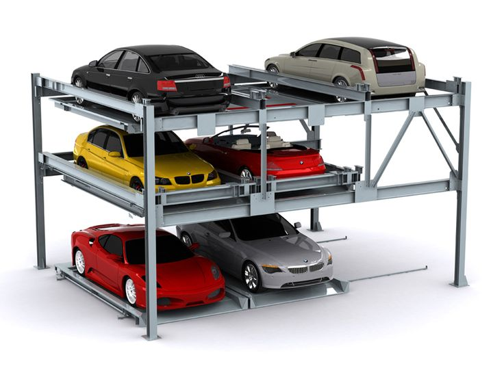 Three Levels Vertical Horizontal Automated Car Parking System Sinolifter