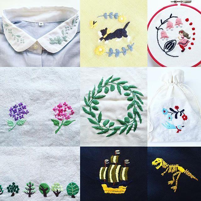 西荻窪の刺繍教室『アンナとラパン』参加者さんの作品。…