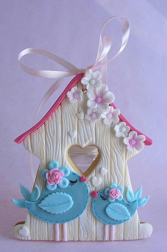 Bird house cookie,recrear para colgador de llaves