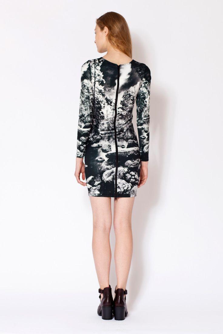 THE FASHION LAB - FOREST GLADE BODYCON DRESS. #cute #dress #love #fashion #forest