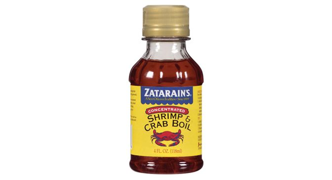 Zatarain's Liquid Crab Boil Concentrate contains the essential oils of the spices and seasonings in the original Crab & Shrimp Boil. This product is extremely hot and a little goes a long way. This product is available in local grocery stores in a 8oz. bottle (7142914512) or a 16oz. bottle (7142914605).