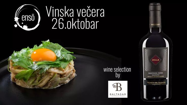 Vigneti del Salento, malvasia nera 2015 prati karbonare od lignji. Vidimo se sutra! ☎️ 063594924  #ensobelgrade #ensorestaurant #foodporn #enso #belgraderestaurants #foodstagram #instafood #gastronomia #ensogram #wine&dine