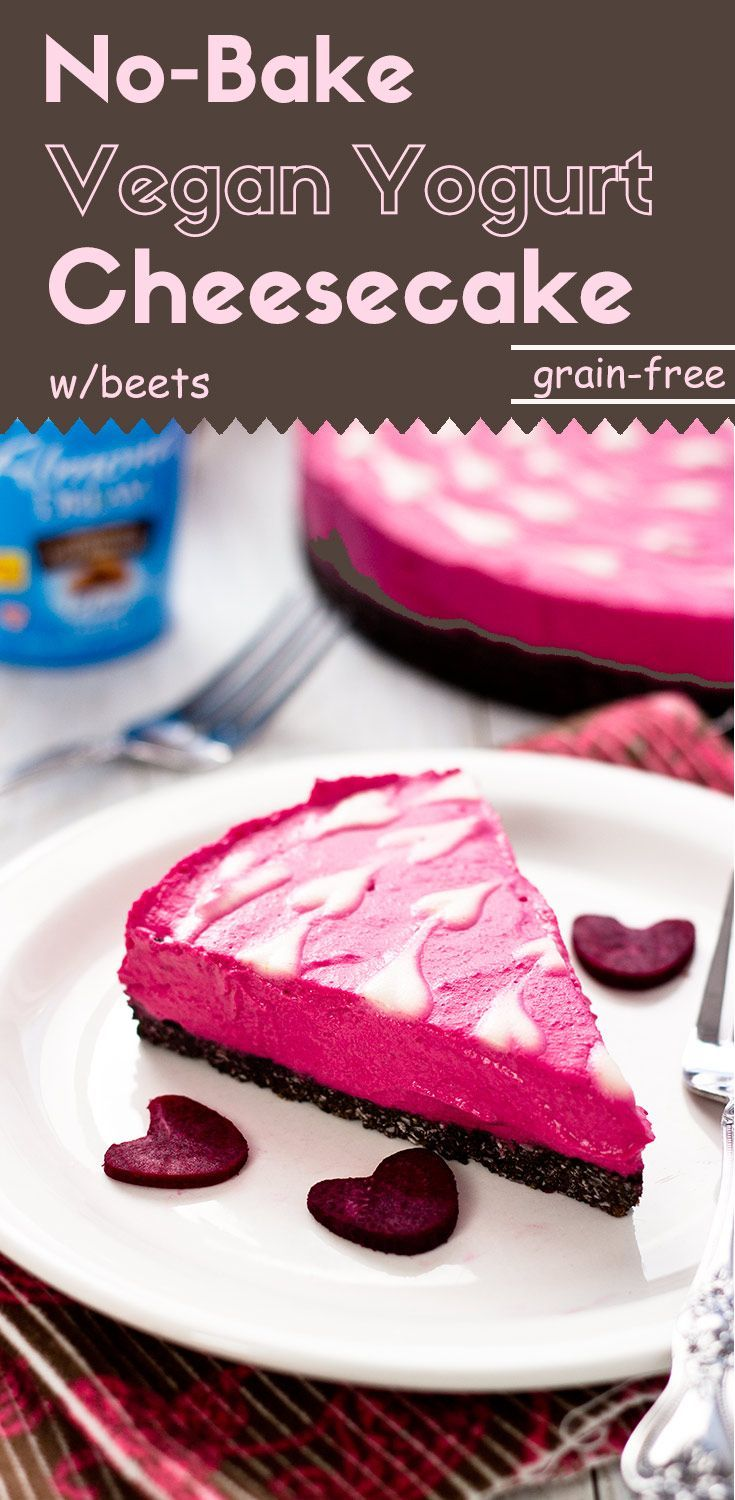 This grain-free, no-bake, vegan yogurt cheesecake has an extremely smooth and creamy texture. It is low in sugar and contains live probiotics from the yogurt.(gluten-free, vegan, #ad) via /lightorangebean/