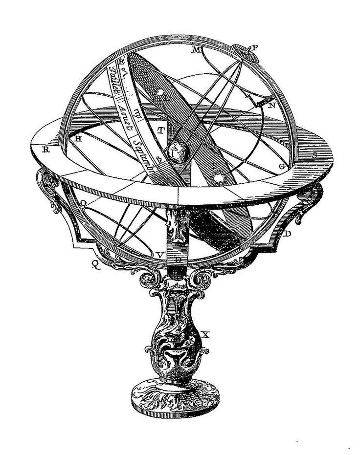 Sphère armillaire de l'Encyclopédie de Diderot.