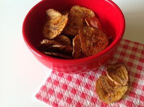 chips de banana assados