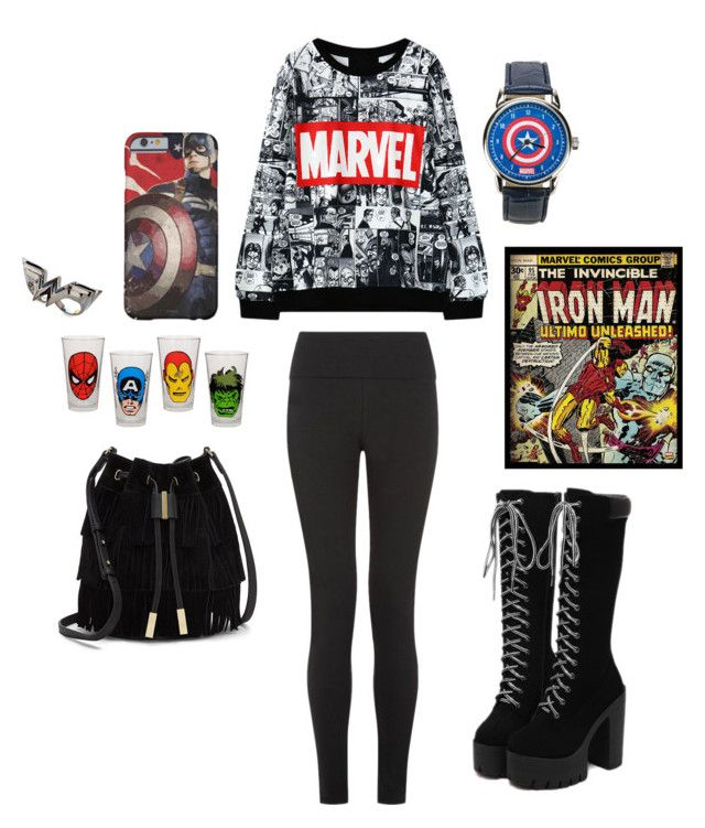 """Marvel"" by thestrawberrytales on Polyvore featuring Vince Camuto, Noir and Marvel"