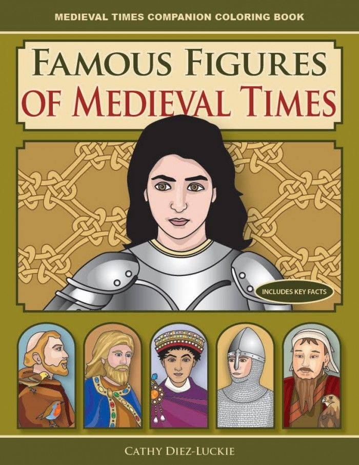 FREE Famous Figures of Medieval Times Coloring Book