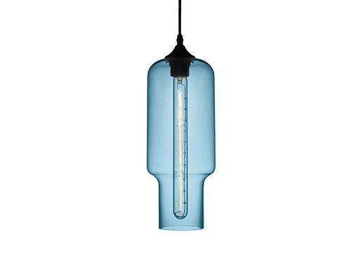 Pendente de vidro colorido Niche Pyles -  AZUL- 4070