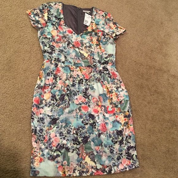 H&M watercolor dress with pockets.  With Tags. Beauty and practicality in one dress.  A watercolor dress with pockets from H&M.  New with tag. H&M Dresses Midi