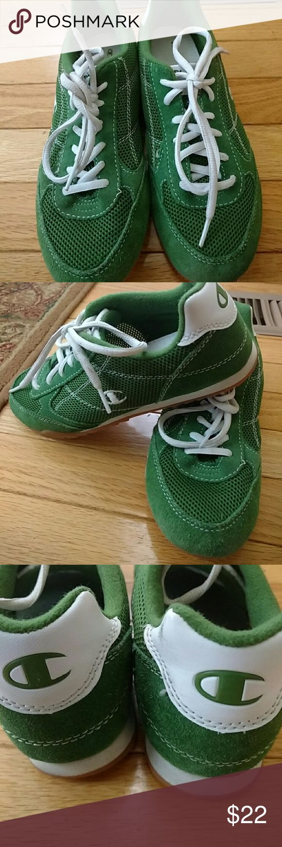 Champs Beautiful green shoes/girls Rubber soles worn only a few times Champs Shoes Sneakers