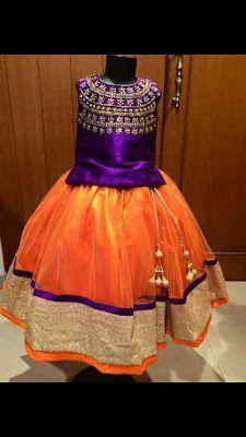 Traditional Kids Lahenghas   Buy Online Kids Wear   Elegant Fashion Wear